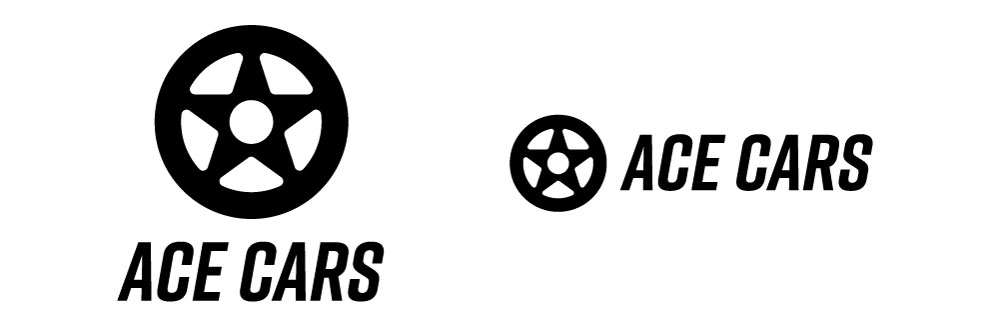 Final identity design for used car dealership Ace Cars