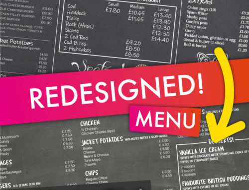 Menu Redesign – Pier Catch