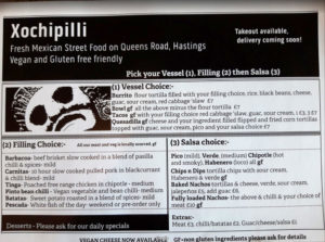 Original Xochipilli menu design