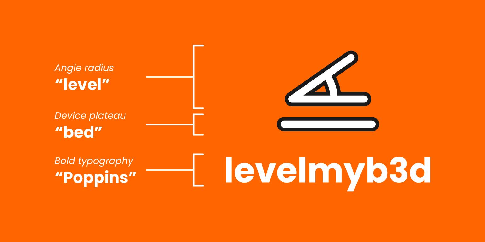 A breakdown of my 3D printing logo brand
